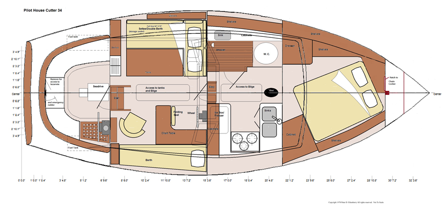 Sailboat General Arrangement Plan