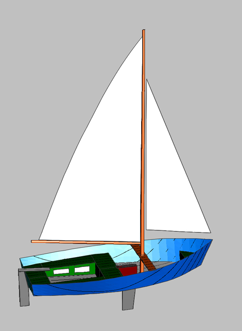 13 Foot Sailing Dinghy
