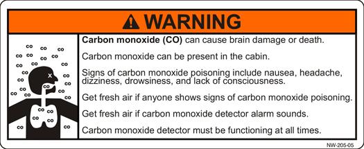 Carbon Monoxide Label
