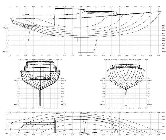 13 Foot Sailing Dinghy linesplan