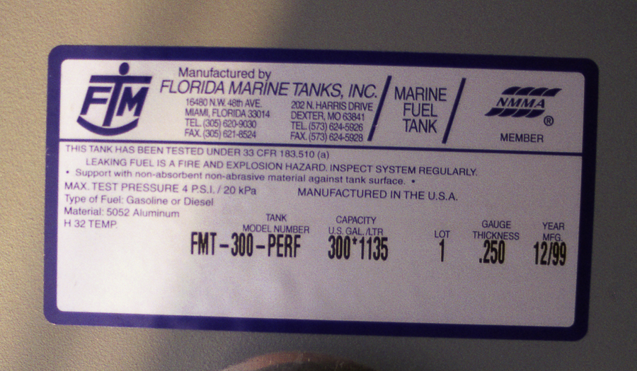 Fuel Tank Label