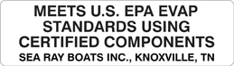 EPA Certification Label