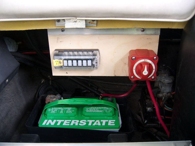Battery Switch and Fuse Panel