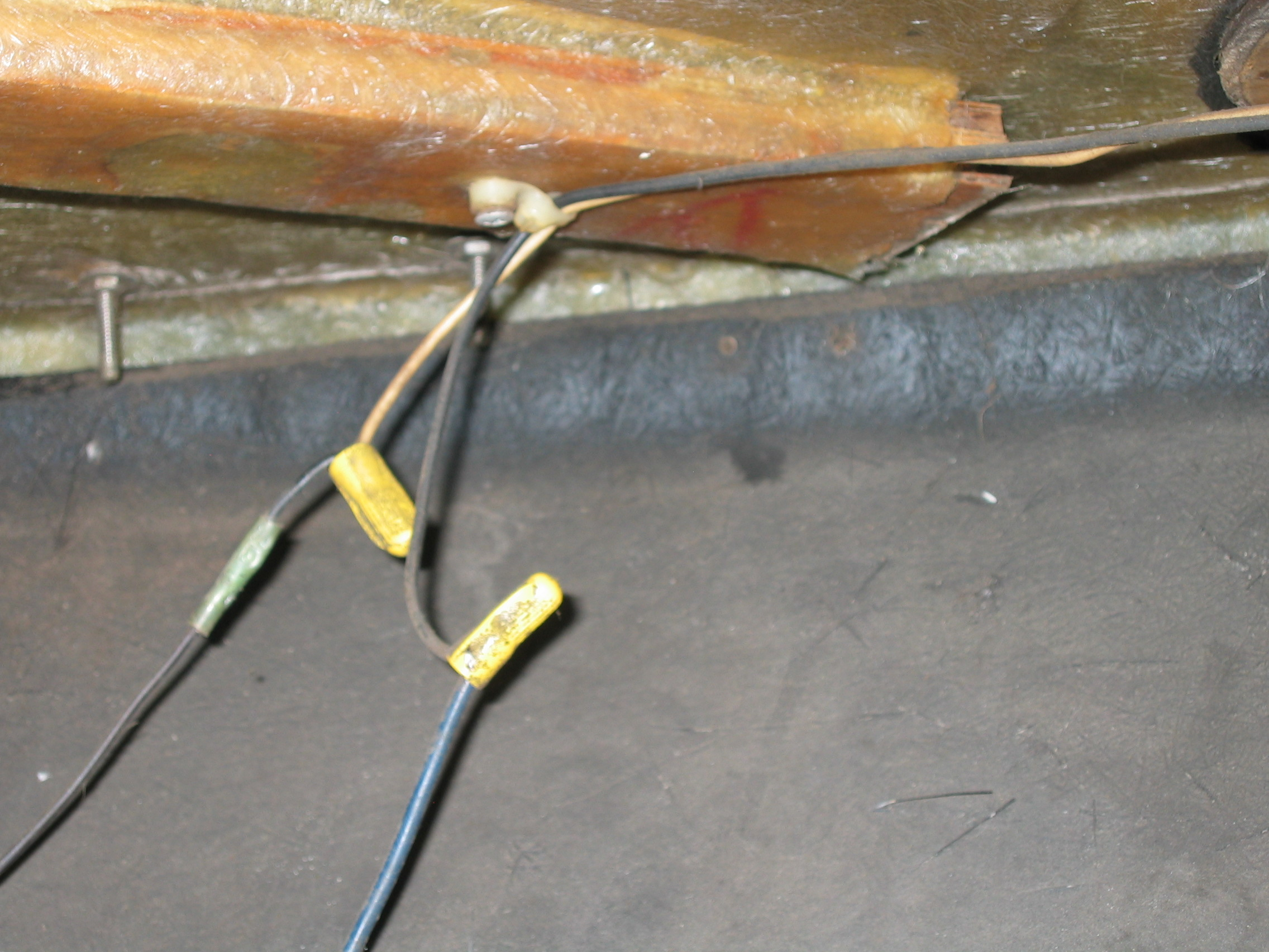 Old navigation light wiring